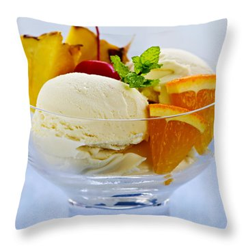 Ice Cream Throw Pillow by Elena Elisseeva