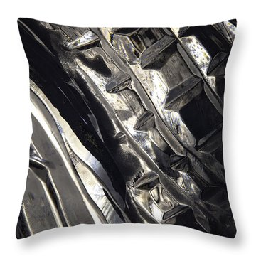 Throw Pillow featuring the photograph Ice Series 24 by John  Bartosik