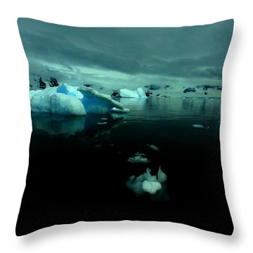 Throw Pillow featuring the photograph Icebergs by Amanda Stadther