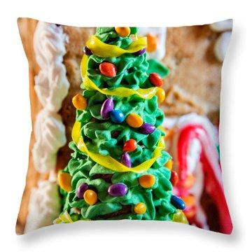 Icing Christmas Tree Throw Pillow