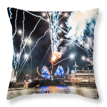 Illuminations Throw Pillow by Sara Frank
