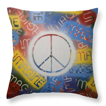 Imagine Peace Throw Pillow by Drew Shourd