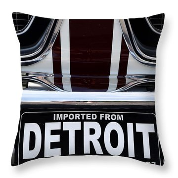 Imported From Detroit Throw Pillow by Dennis Hedberg