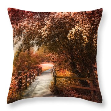 In A Park Throw Pillow by Svetlana Sewell