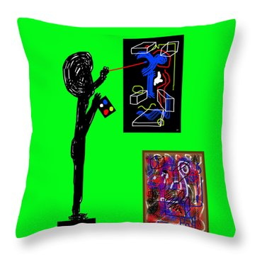 In His Elements Throw Pillow by Sir Josef - Social Critic - ART