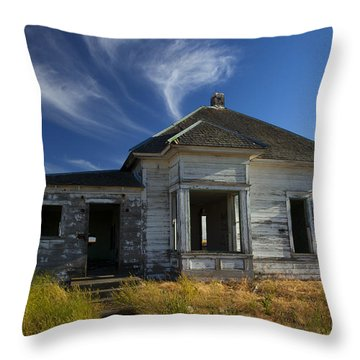 In Ruin Throw Pillow by Mike  Dawson