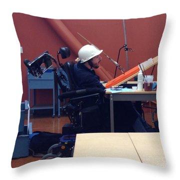 In Studio Throw Pillow