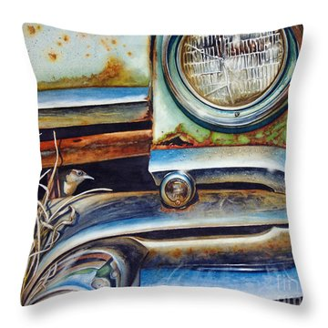 In The Beaten Path Throw Pillow