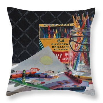 In The Beginning Throw Pillow by Arlene Steinberg