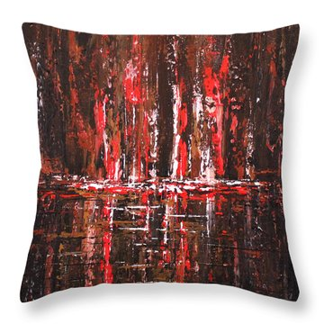 Throw Pillow featuring the painting In The Heat Of The Night by Patricia Lintner