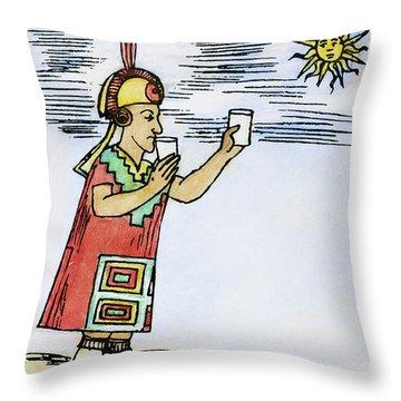 Inca Sun Worship Throw Pillow