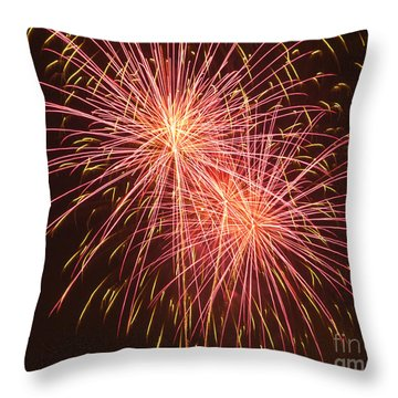Independence Day Fireworks Throw Pillow by Philip Pound