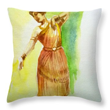 Indian Dancer Throw Pillow