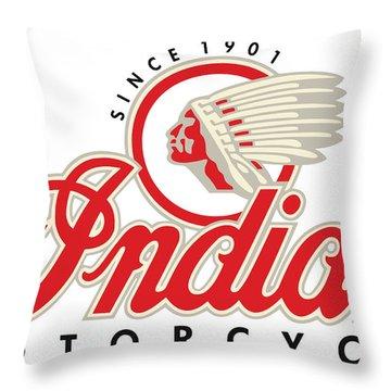 Indian Motorcycle Logo Throw Pillow