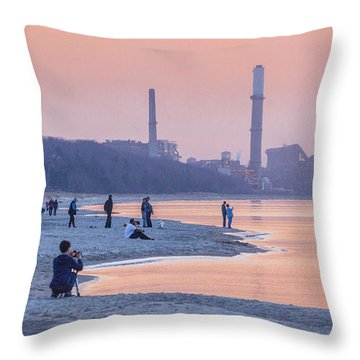Indiana Dunes National Lakeshore Throw Pillow