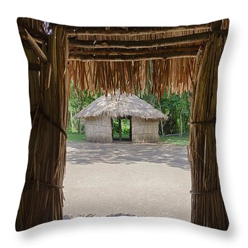 Throw Pillow featuring the photograph Indigenous Tribe Huts In Puer by Bryan Mullennix