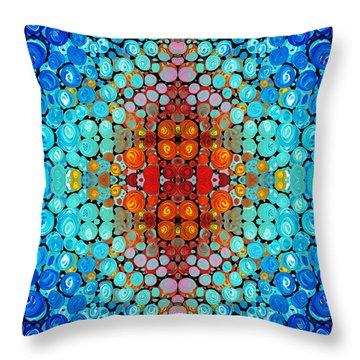 Inner Light - Abstract Art By Sharon Cummings Throw Pillow