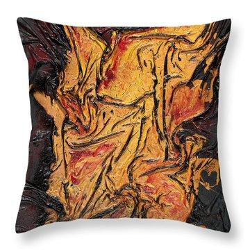 Internal Fire Throw Pillow