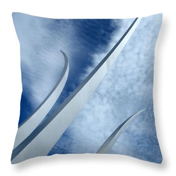 Throw Pillow featuring the photograph Into The Clouds by Cora Wandel