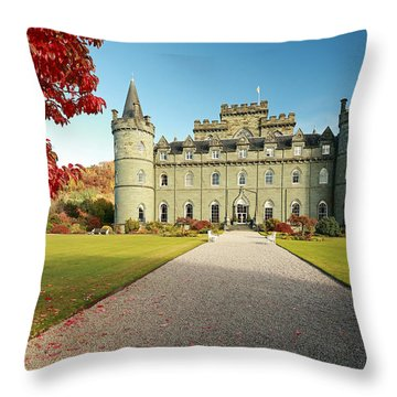 Inveraray Castle Throw Pillow
