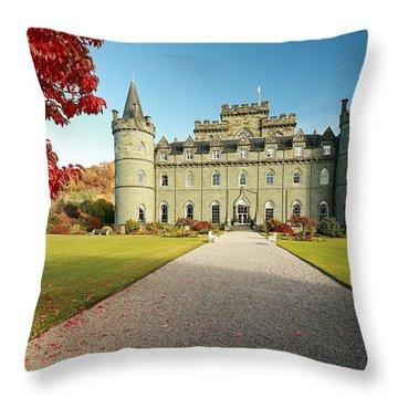 Inveraray Castle Throw Pillow by Grant Glendinning