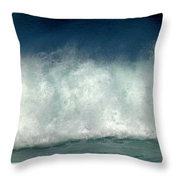 Iridescent Forces Throw Pillow