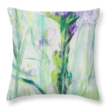 Iris Number One Throw Pillow