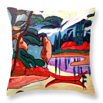 Island Fantasy Throw Pillow