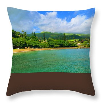 Island Of Maui Throw Pillow