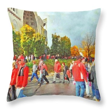It Is Game Day Saturday At The Ohio State University Throw Pillow