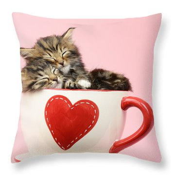 It Must Be Love Throw Pillow by Greg Cuddiford