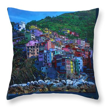 Throw Pillow featuring the painting Italia by Deborah Boyd