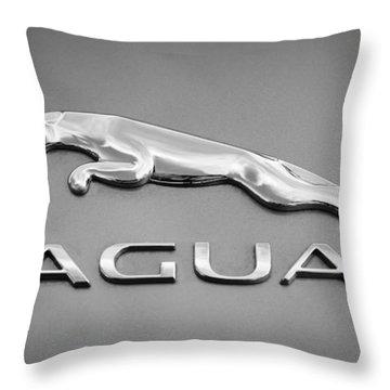 Jaguar F Type Emblem Throw Pillow
