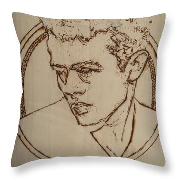 James Dean Throw Pillow by Sean Connolly