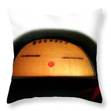 Throw Pillow featuring the photograph Japanese Doll by Henrik Lehnerer