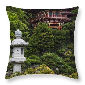 Japanese Tea Garden Golden Gate Park Throw Pillow