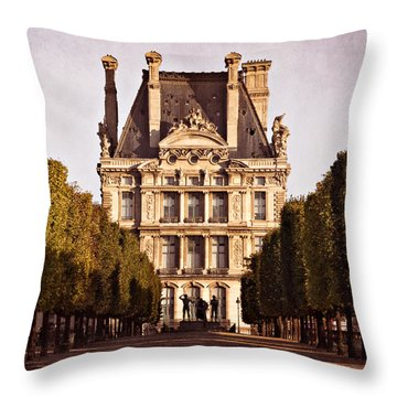 Throw Pillow featuring the photograph Jardin Des Tuileries / Paris by Barry O Carroll
