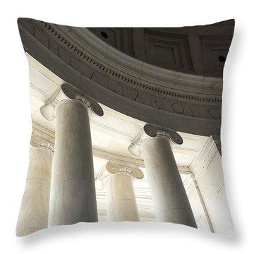 Jefferson Memorial Architecture Throw Pillow
