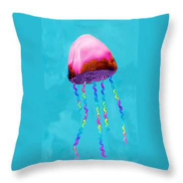 Jelly The Fish Throw Pillow