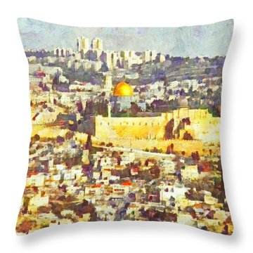 Jerusalem Sunrise Throw Pillow