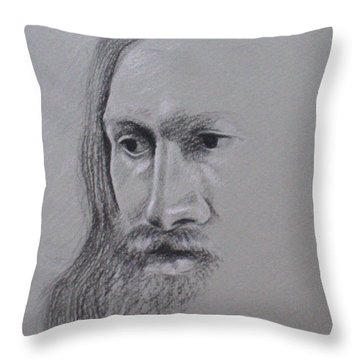 Jesus Throw Pillow by Kathy Weidner