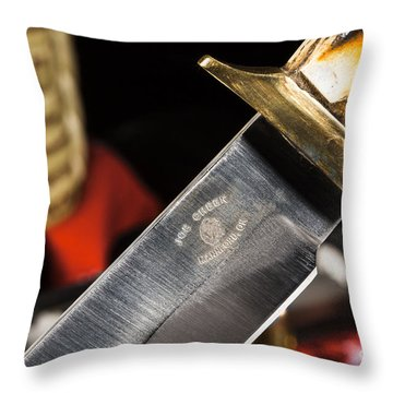 Joe Cheek Knife Series Throw Pillow
