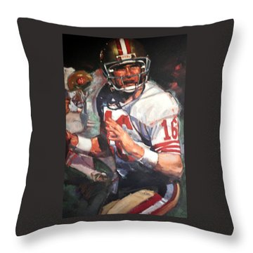 Joe Montana Throw Pillow
