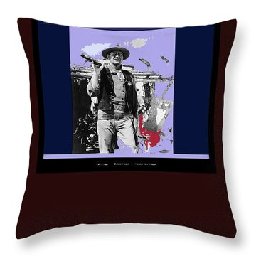 John Wayne Rio Bravo Publicity Photo 1959 Old Tucson Arizona Throw Pillow by David Lee Guss