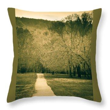 Just A Short Walk Throw Pillow
