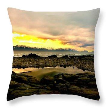 Throw Pillow featuring the photograph Kaikoura Coast New Zealand by Amanda Stadther