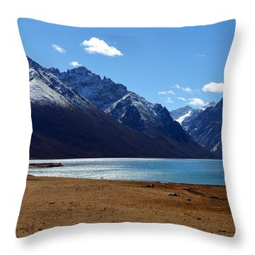 Kailash Mansarovar Throw Pillow by Yue Wang