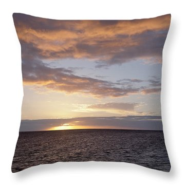 Kailua Sunset Throw Pillow by Brandon Tabiolo