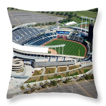 Kauffman Stadium Kansas City Missouri Throw Pillow