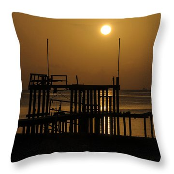 Keemah Sunrise Throw Pillow